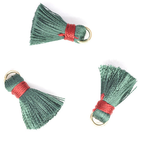 Tassel 20 mm Green w/ Red OLO