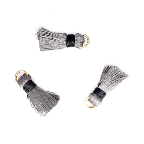 Tassel 20 mm Light Grey w/ Black OLO