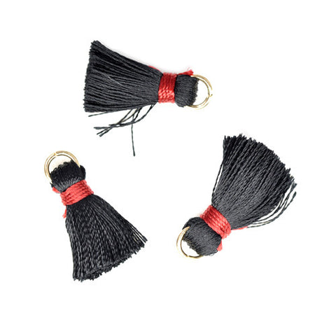 Tassel 20 mm Black w/Red