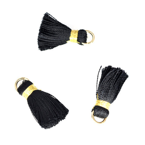 Tassel 20 mm Black w/ Gold