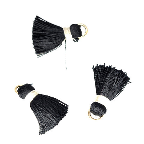 Tassel 20 mm Black w/ White
