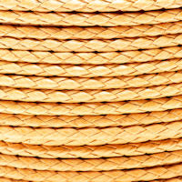 Braided Cotton Bolo Cord Peach