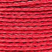 Braided Cotton Bolo Cord Red
