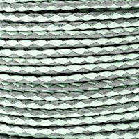 Braided Cotton Bolo Cord Sea Foam & Light Grey