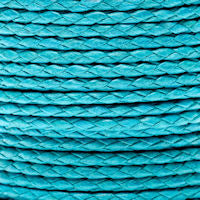 Braided Cotton Bolo Cord Turquoise