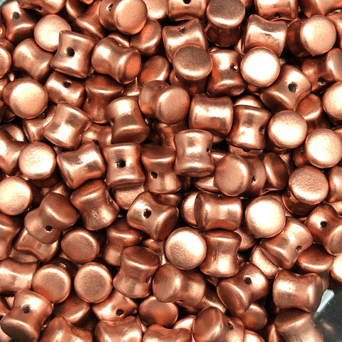 Pellet Bead 4 x 6mm Vintage Copper