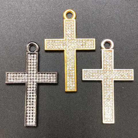 Pendant Cross w/ Rhinestones Assorted