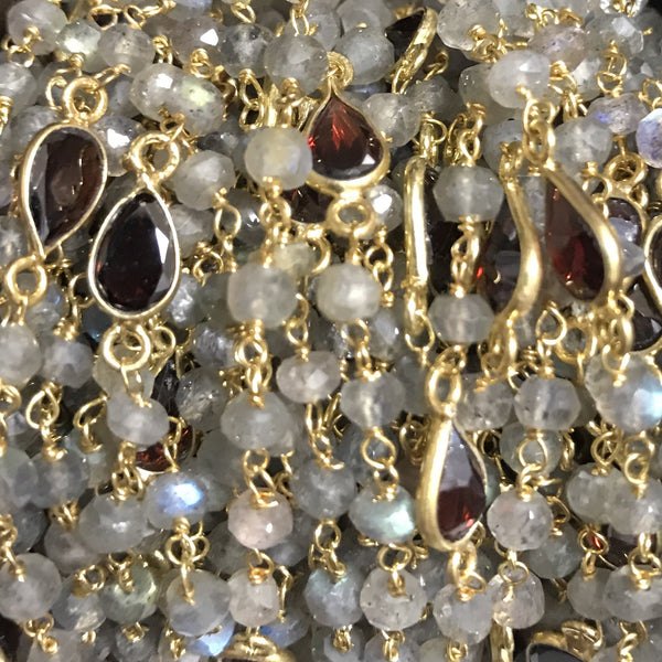 Beaded Chain - Gorgeous Garnet