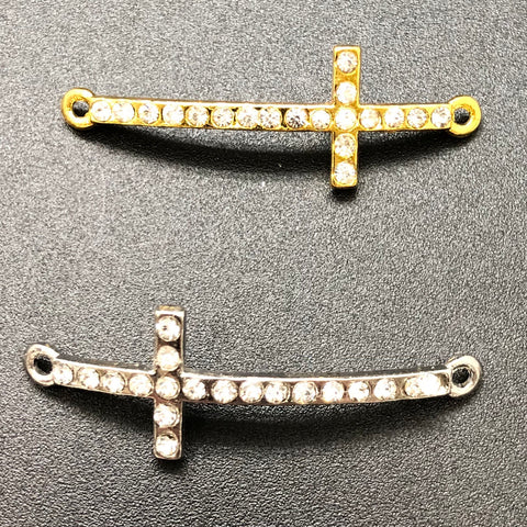 Connectors Cross w/ Rhinestones