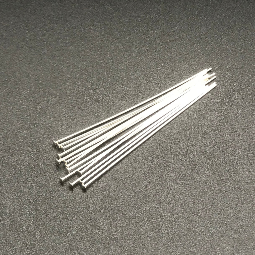Head Pin 22G 2 INCH STERLING SILVER 1PC