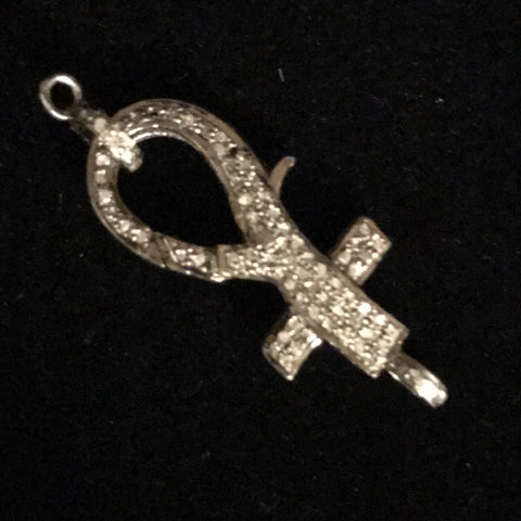 Diamonds - Cross Lobster Clasp w/Ring