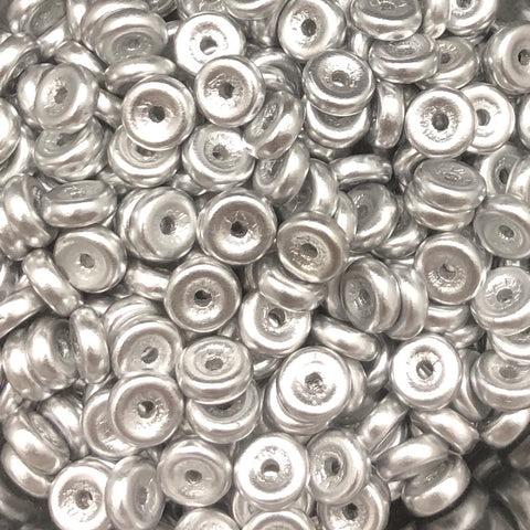 Wheel Bead 6mm Aluminum Silver