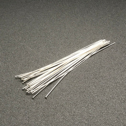 Head Pin 26G 2 INCH STERLING SILVER 1PC