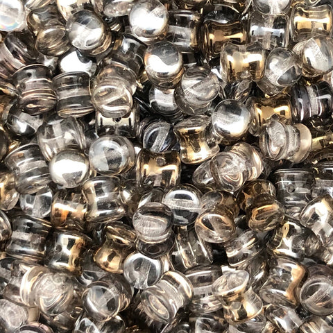 Pellet Bead 4 x 6mm Crystal Valentinite