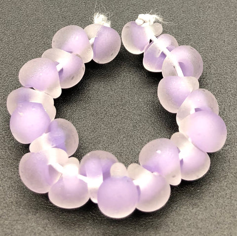 Unicorn Glass Tear Drop Beads Matte Lavender