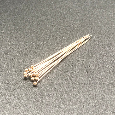 Head Pin 24G 1.5 INCH GOLD FILLED with Ball 2mm 1PC