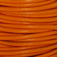 Leather Cord #020 Orange Assorted