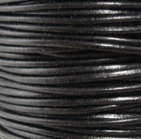 Leather Cord #002 Black Assorted
