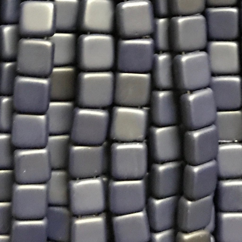 Tile Bead - Matte Navy