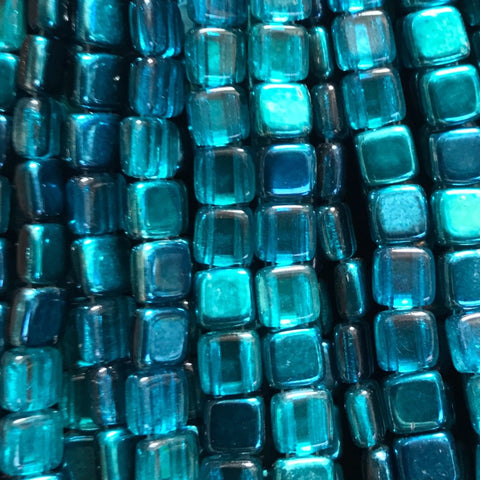 Tile Bead - Mirror Teal