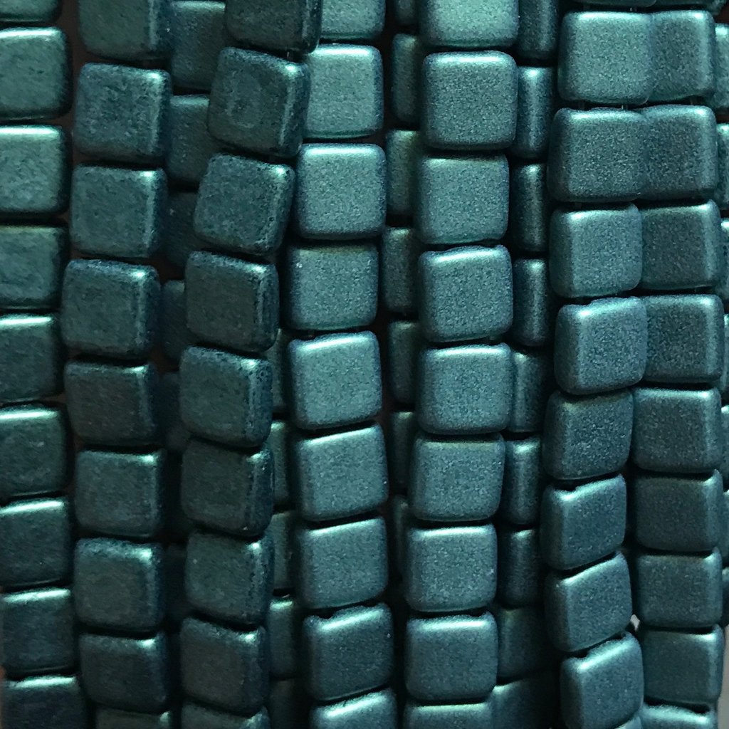 Tile Bead - M/S Lt Green