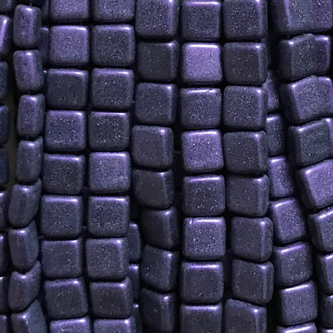 Tile Bead - M/S Purple