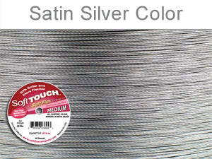 Soft Touch Premium Beading Wire Satin Silver