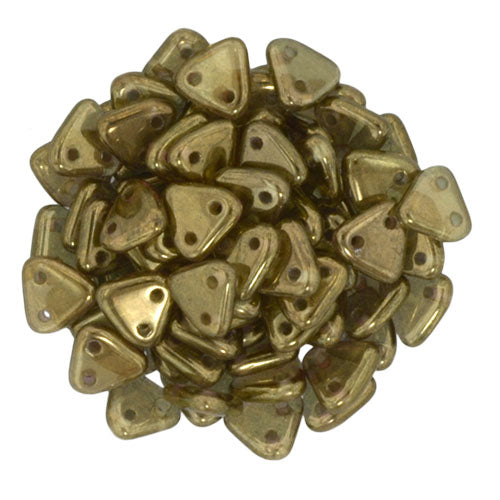 2 Hole 6mm Triangle Bead Pantina Olivine