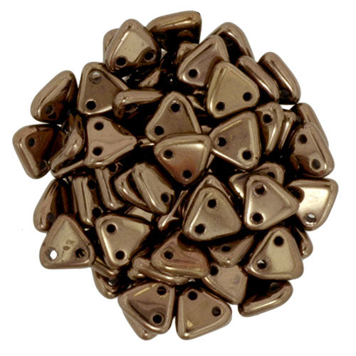 2 Hole 6mm Triangle Beads Dark Bronze