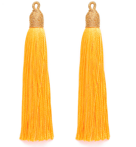 Tassel Marigold with Gold Cording Top