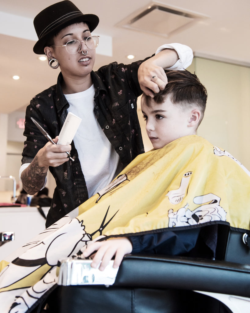 Children's cuts in Vancouver at JD's Barbershop