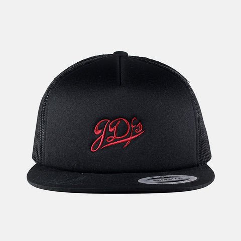 Black Mesh Trucker Snapback Hat