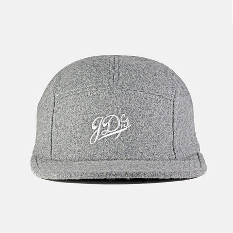 Grey Wool 5 Panel Hat