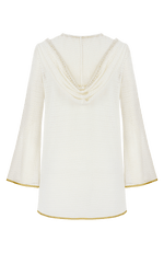 Peregrine white hooded mini coverup cotton lace