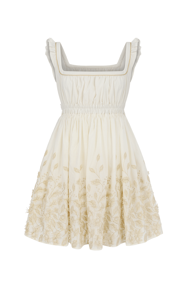 Lark skater dress white