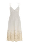 Lark midi dress white