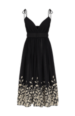 Lark midi dress black