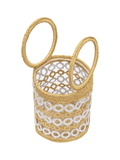 Crochet Beach Bucket Bag with Hoop Handles