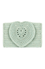Elif Heart Crochet Clutch Bag