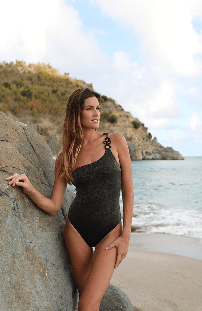 Ajda One-Shoulder Swimsuit - [shop name]