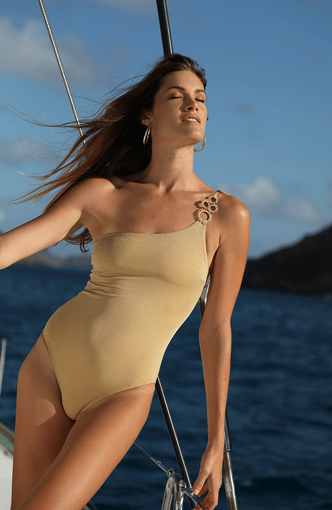 Ajda One-Shoulder Swimsuit