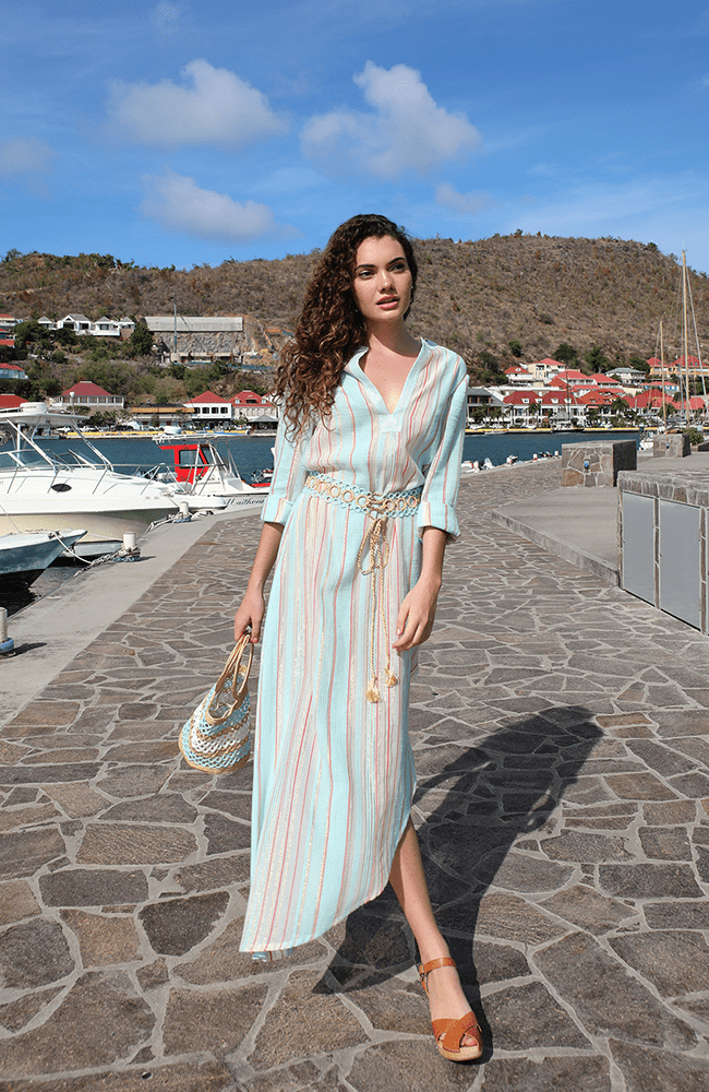 Elif Striped Caftan