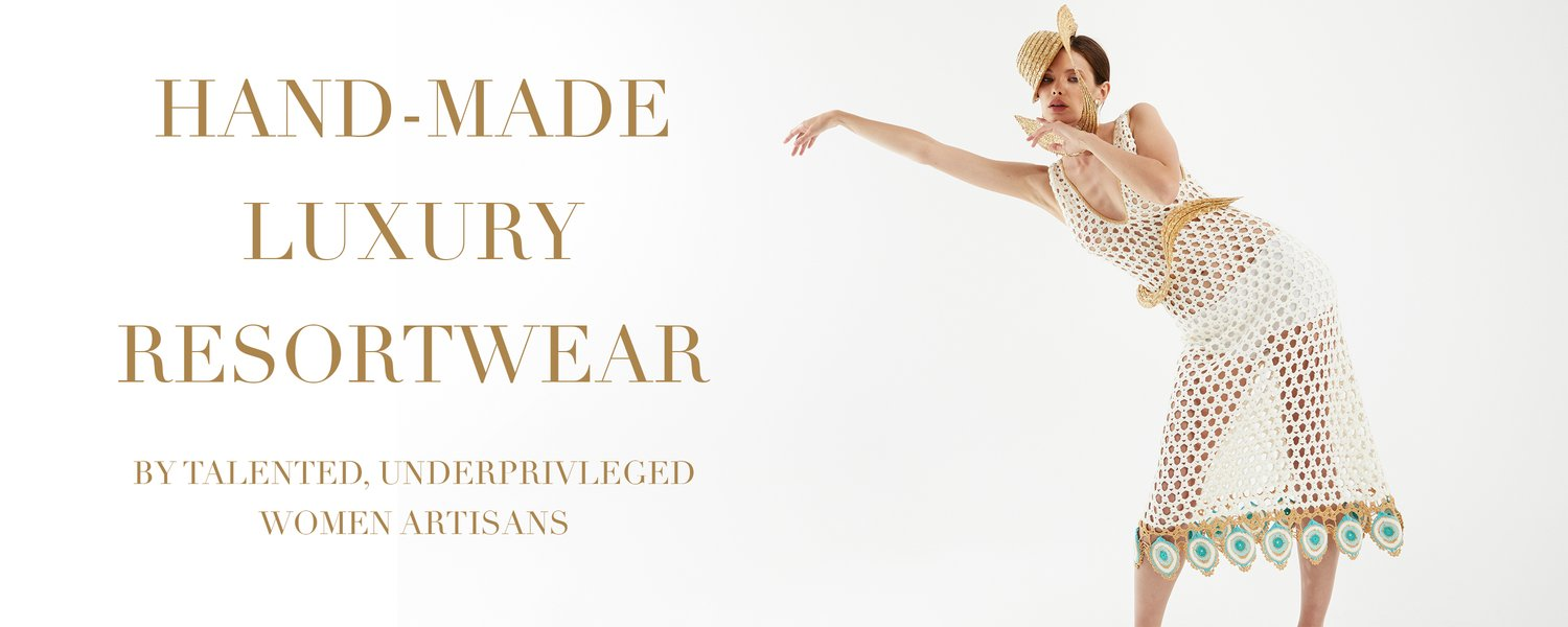 where sustainability meets showstopping. sustainable Resortwear.