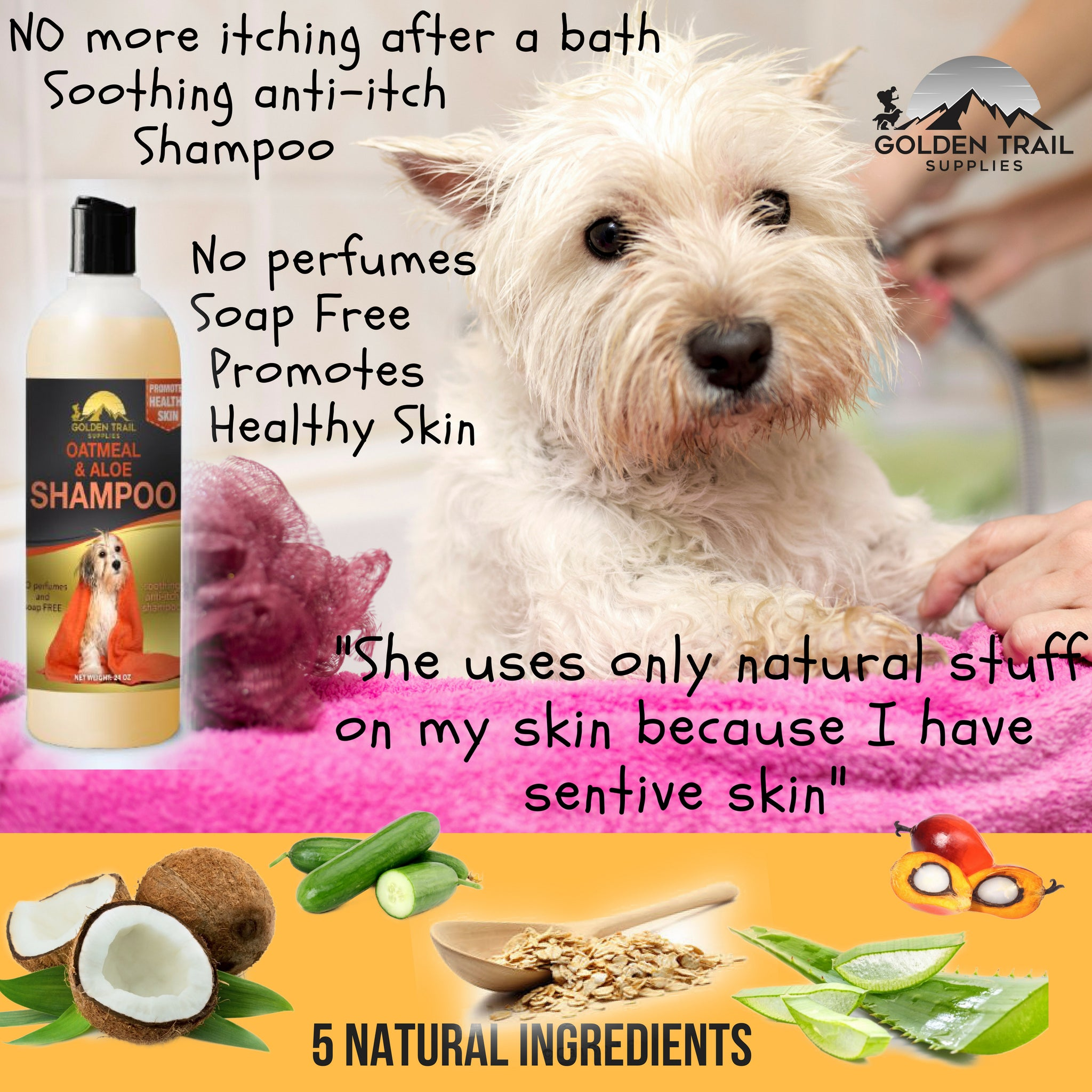 ... 24 oz Natural Oatmeal & Aloe Pet Shampoo & Conditioner ...