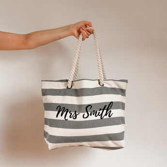 Personalised Mrs Beach Bag