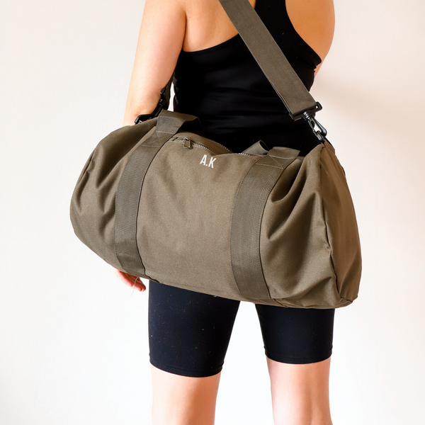Khaki Personalised Gym Bag