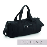Black Personalised Gym Bag - TreasurePersonalisedGifts