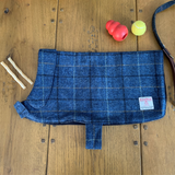 Harris Tweed Dog Jacket - Blue