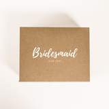 bridesmaid box personalised box wedding gift box