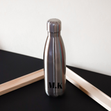 Personalised Bold Water Bottle - Silver